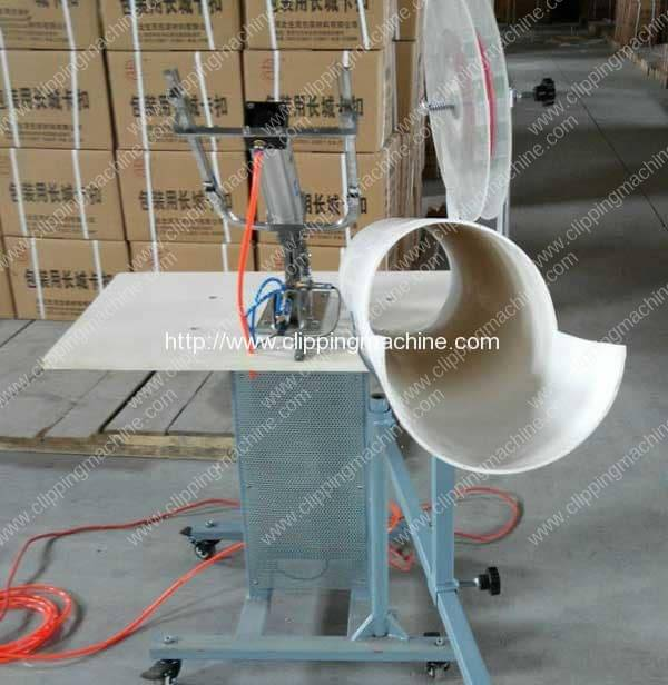 Pneumatic Fruit and Vegetable Mesh Bag Clipping Machine for Australia Customer