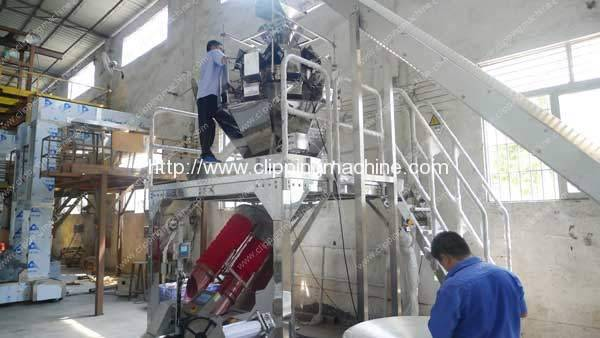 Full Automatic Potato Mesh Bag Packing Plant for Chile Customer